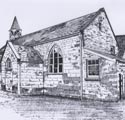 Sketch of Membury Primary School, Membury near Axminster (toilet alterations)