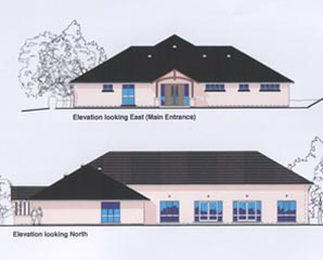 Langford Budville Village Hall, Wellington, Somerset (elevations for current scheme - site now changed)